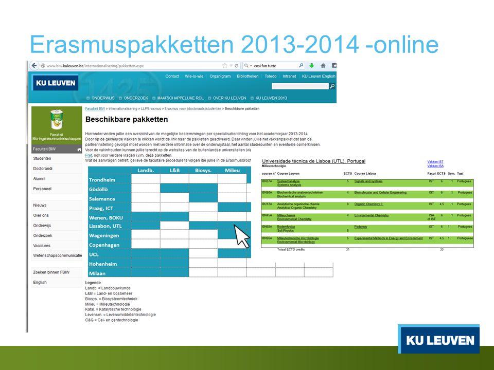Erasmuspakketten 2013-2014 -online
