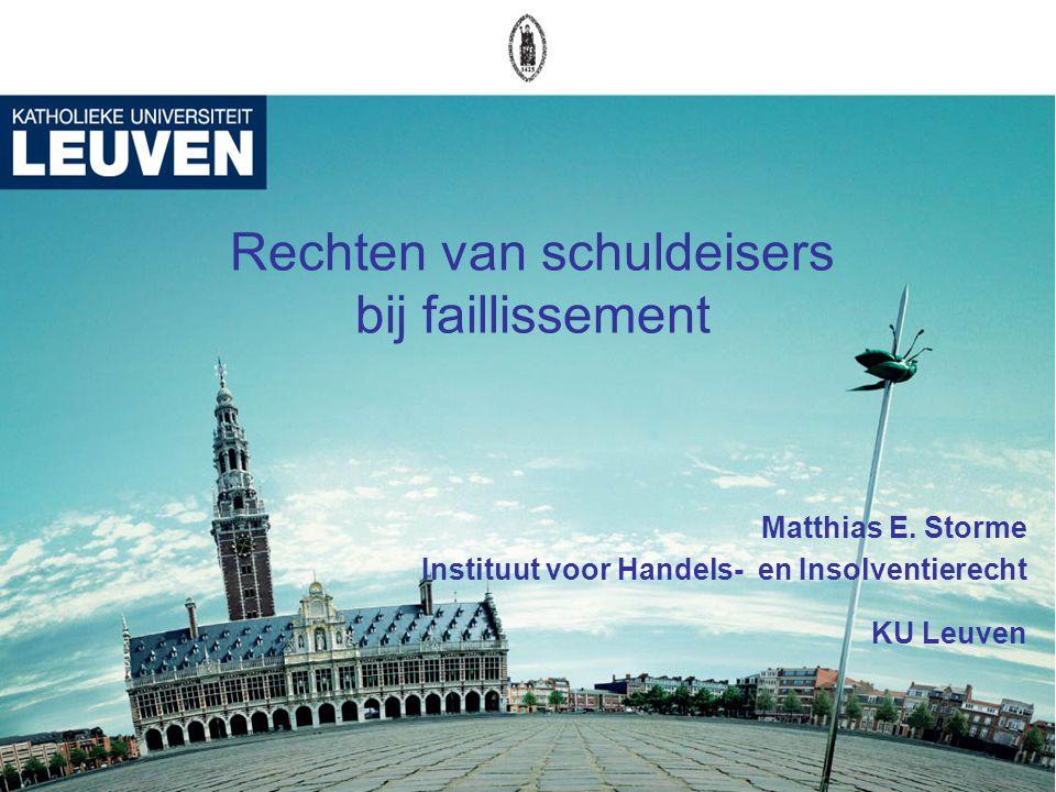 1 Rechten van schuldeisers bij faillissement Matthias E.