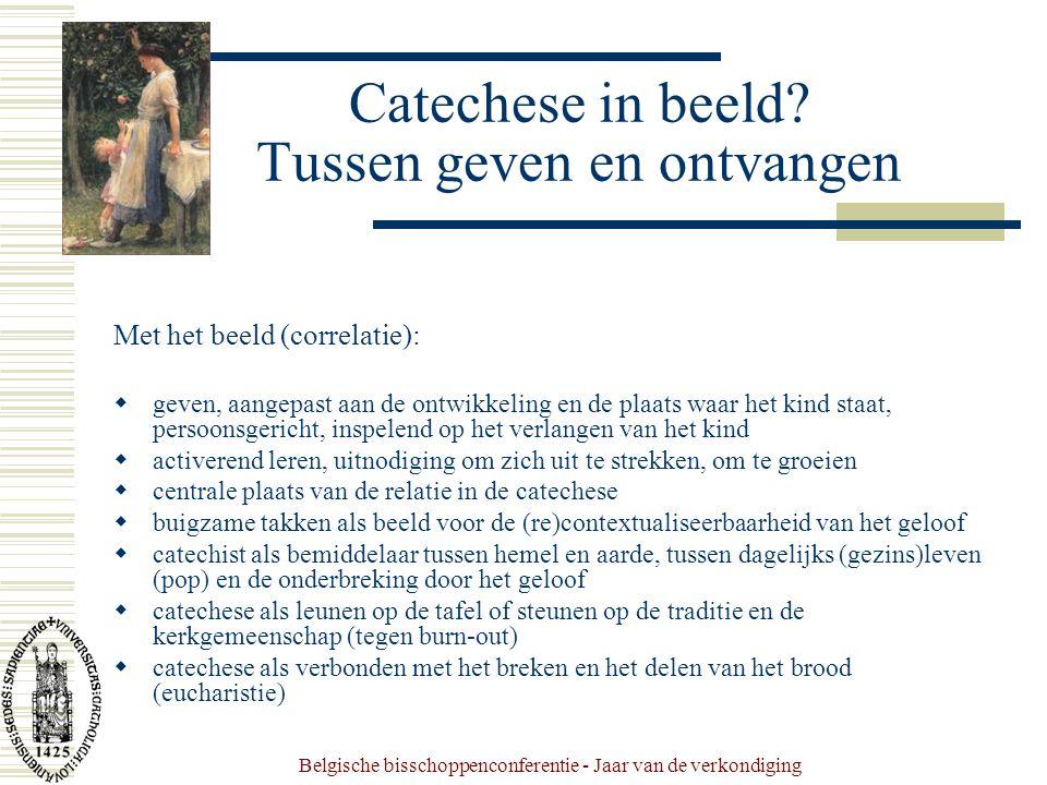 Belgische bisschoppenconferentie - Jaar van de verkondiging Catechese in beeld.