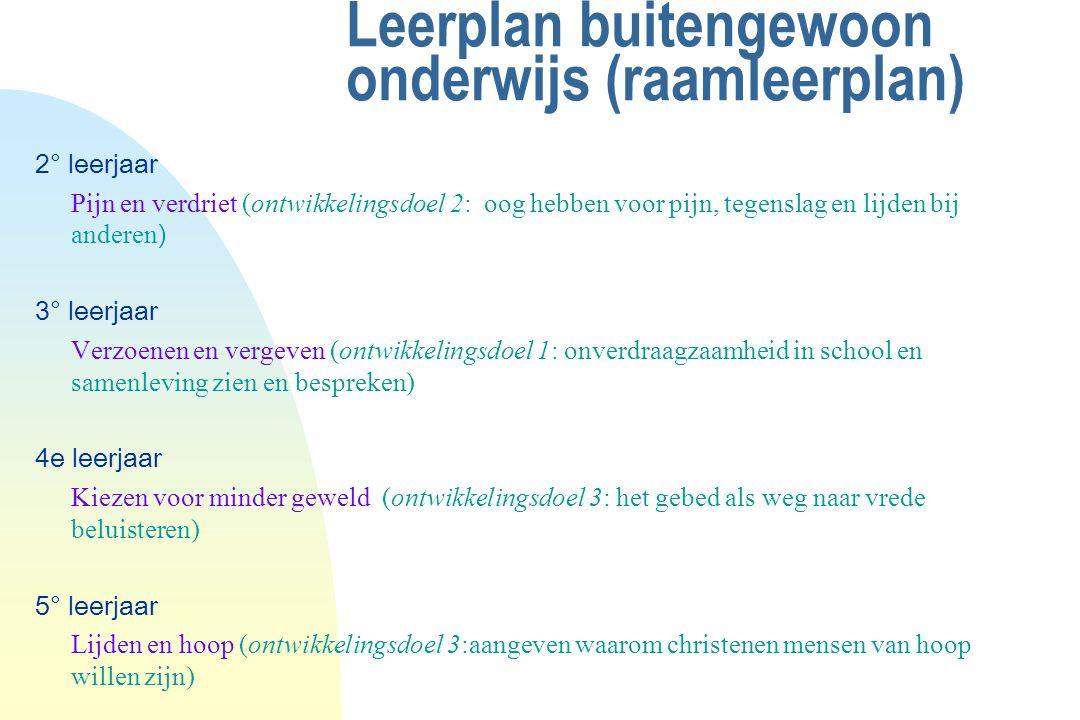 Leerplan buitengewoon onderwijs (raamleerplan) 2° leerjaar Pijn en verdriet (ontwikkelingsdoel 2: oog hebben voor pijn, tegenslag en lijden bij andere