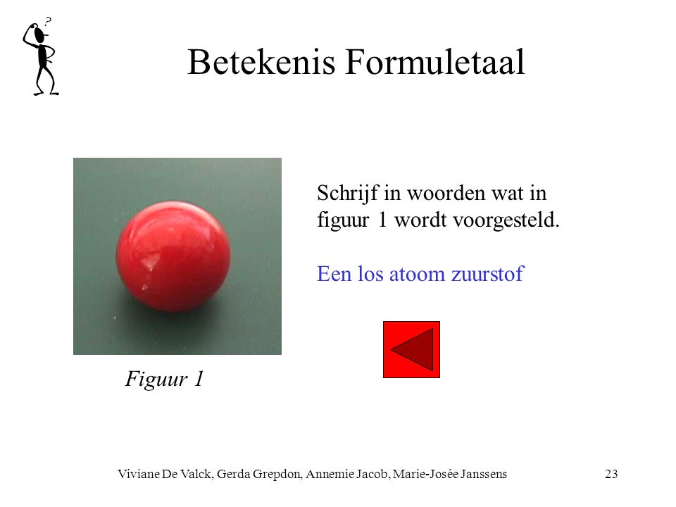Betekenis Formuletaal Viviane De Valck, Gerda Grepdon, Annemie Jacob, Marie-Josée Janssens23 Schrijf in woorden wat in figuur 1 wordt voorgesteld. Een