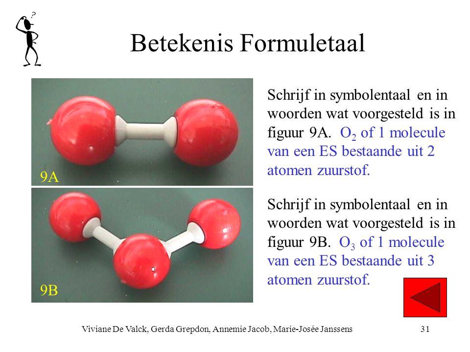 Betekenis Formuletaal Viviane De Valck, Gerda Grepdon, Annemie Jacob, Marie-Josée Janssens31 9A 9B Schrijf in symbolentaal en in woorden wat voorgesteld is in figuur 9A.