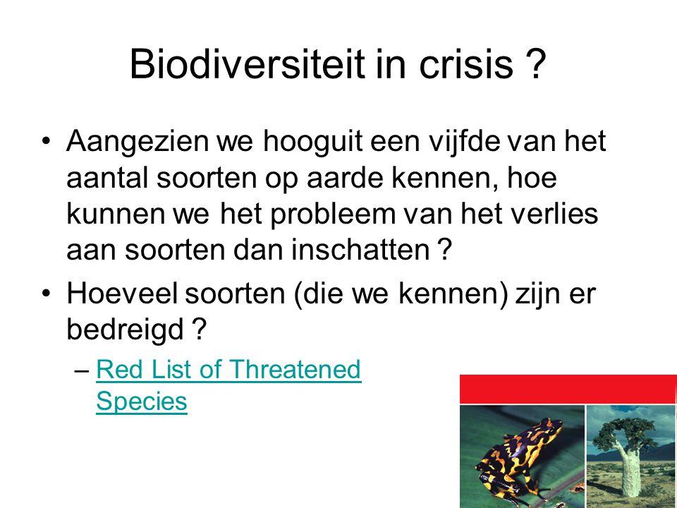 Aangezien we hooguit een vijfde van het aantal soorten op aarde kennen, hoe kunnen we het probleem van het verlies aan soorten dan inschatten .