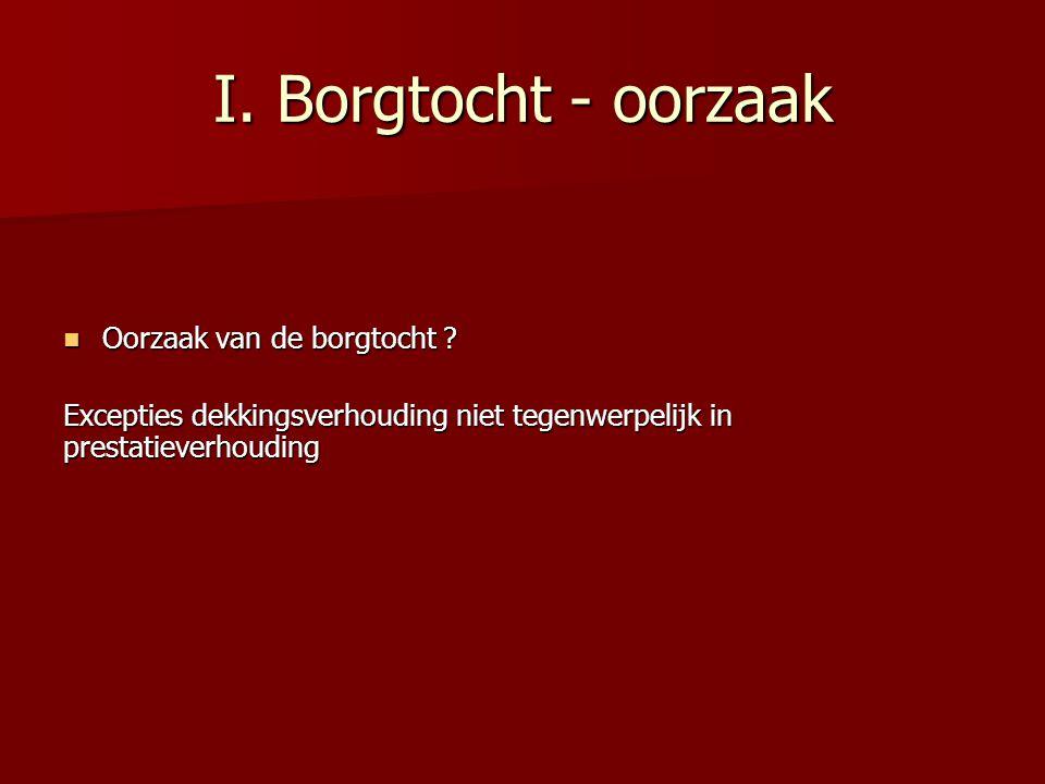 I.Borgtocht - oorzaak Oorzaak van de borgtocht . Oorzaak van de borgtocht .