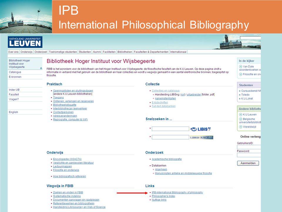 IPB International Philosophical Bibliography