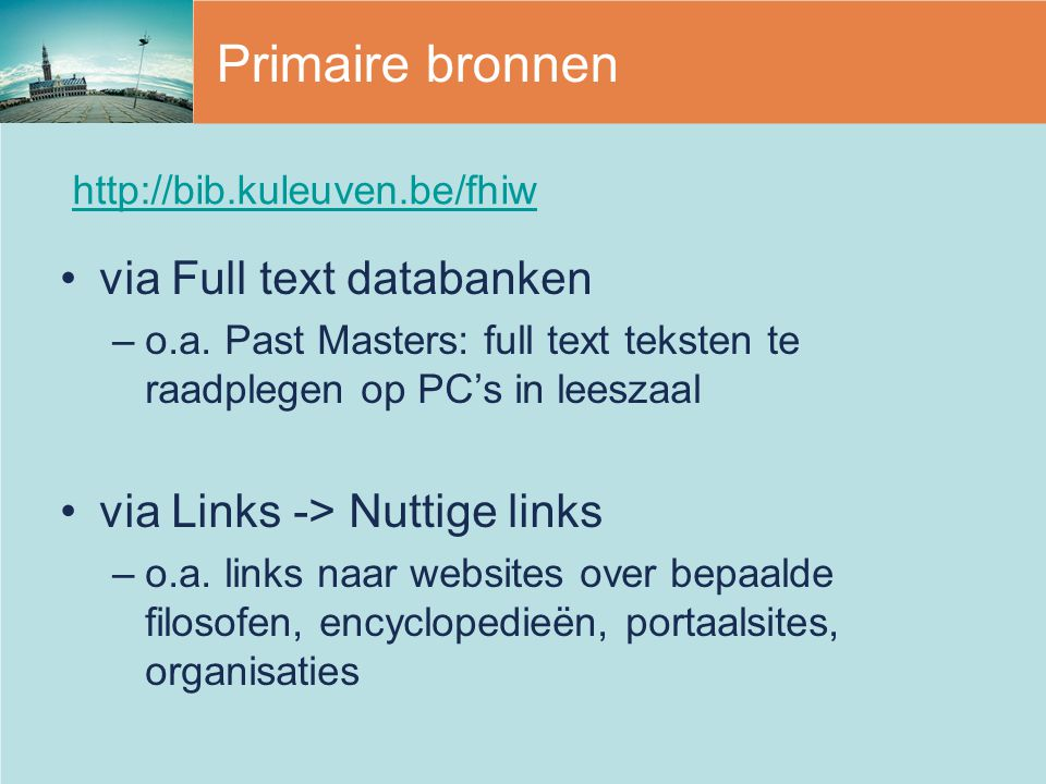 via Full text databanken –o.a.