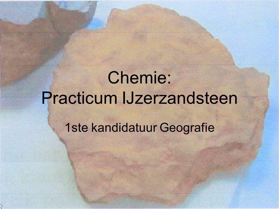 Stap 2: Fe 3+ omzetten in Fe 2+  Volledig ijzergehalte meten Weer HCl toevoegen (10mL)  rest Zn omzetten in Zn 2+ : 2H + + Zn  H 2 + Zn 2+ (redoxreactie met ΔE°=+0,76V)  Gasontwikkeling.