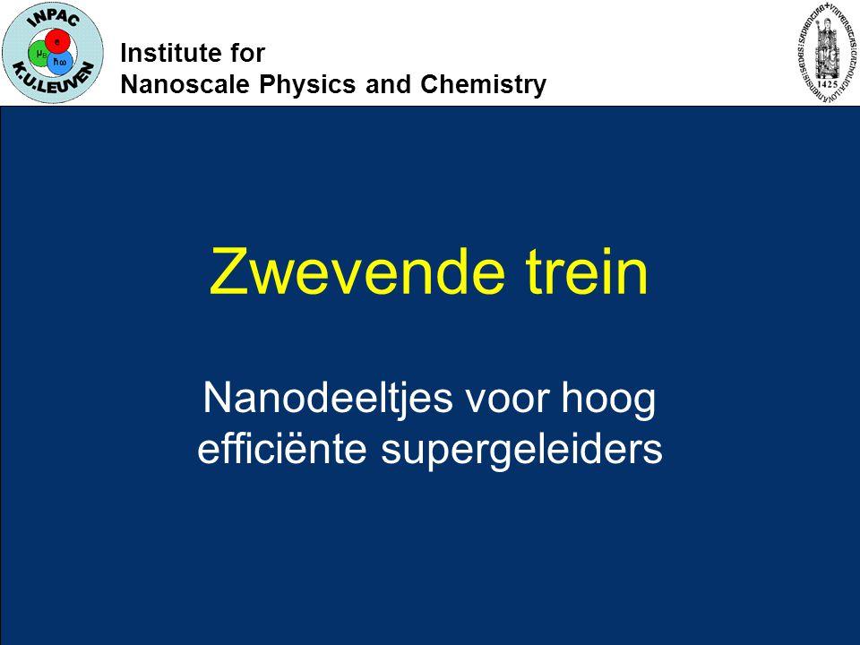 Institute for Nanoscale Physics and Chemistry Zwevende trein Nanodeeltjes voor hoog efficiënte supergeleiders