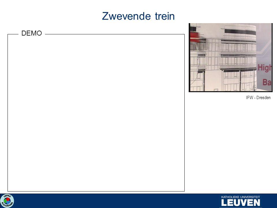 Zwevende trein DEMO IFW - Dresden
