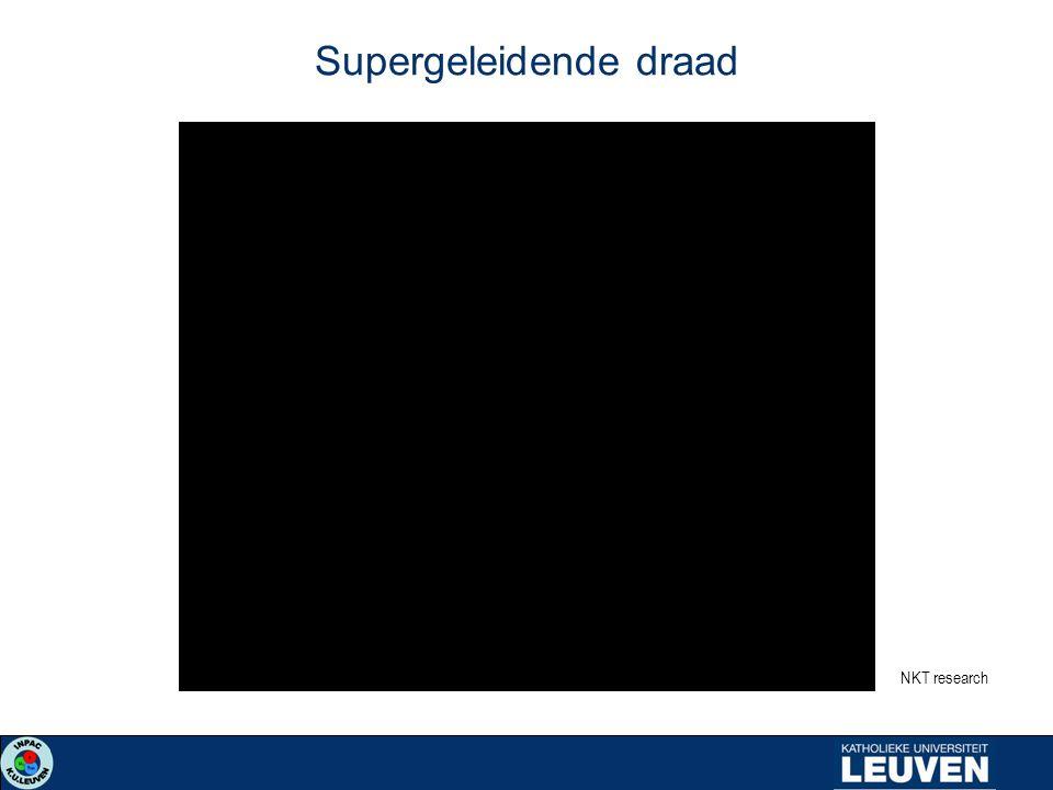 Supergeleidende draad NKT research