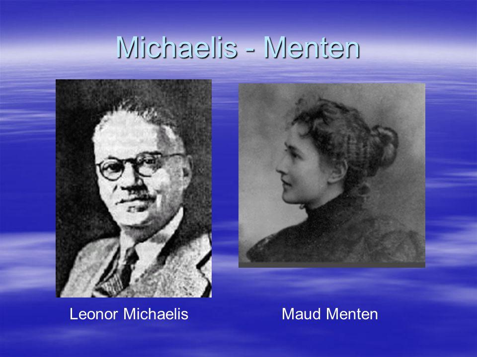 Leonor Michaelis Maud Menten Michaelis - Menten