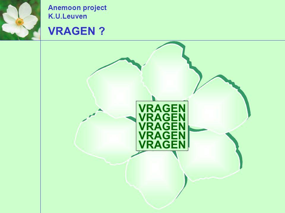 Anemoon project K.U.Leuven VRAGEN VRAGEN