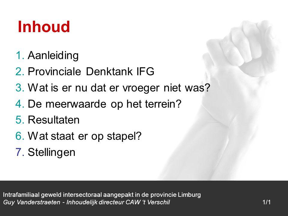 1/1 1. Aanleiding 2. Provinciale Denktank IFG 3.
