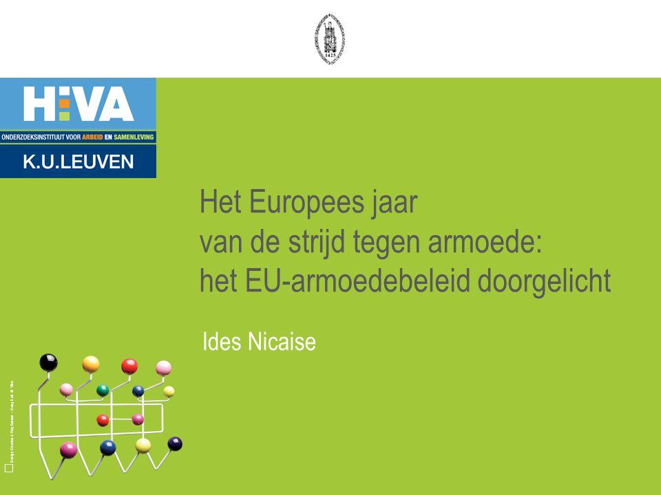 Design Charles & Ray Eames - Hang it all © Vitra Het Europees jaar van de strijd tegen armoede: het EU-armoedebeleid doorgelicht Ides Nicaise