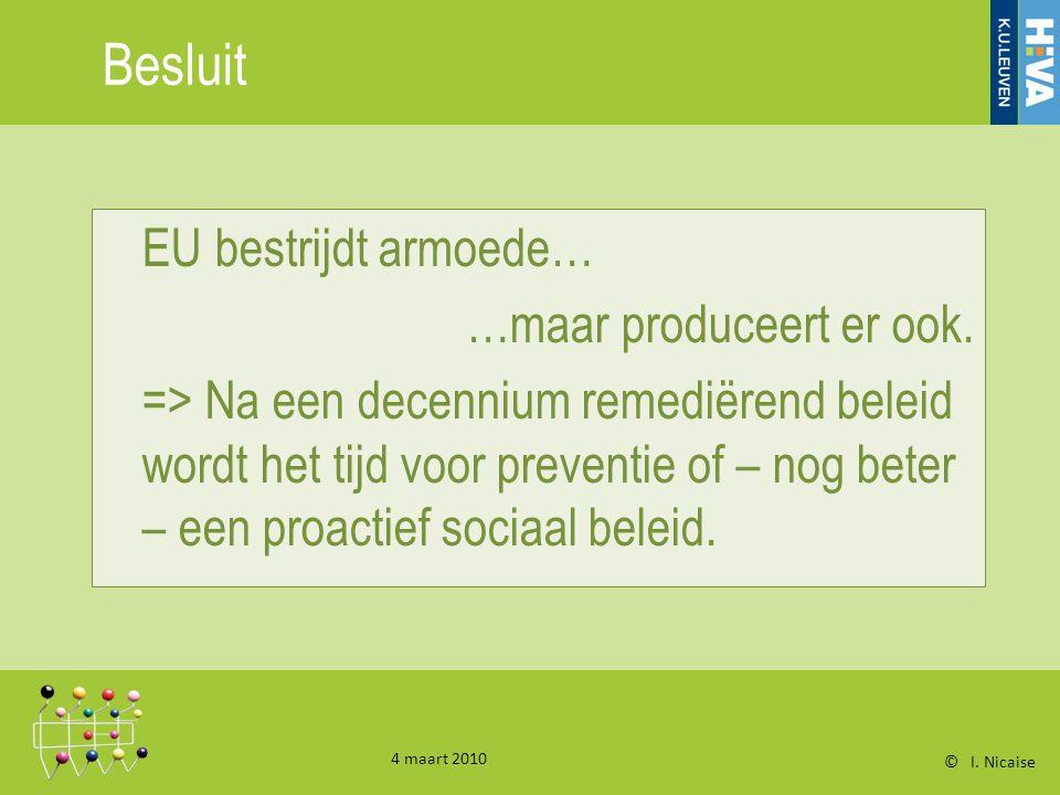 Besluit EU bestrijdt armoede… …maar produceert er ook.