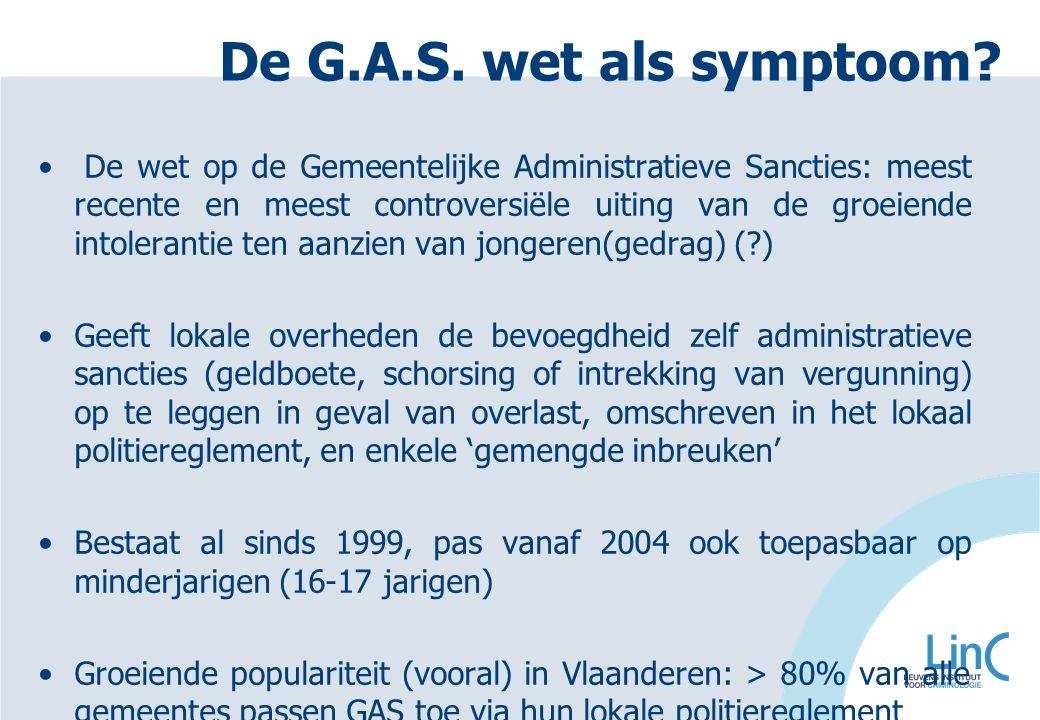 De G.A.S. wet als symptoom? De wet op de Gemeentelijke Administratieve Sancties: meest recente en meest controversiële uiting van de groeiende intoler