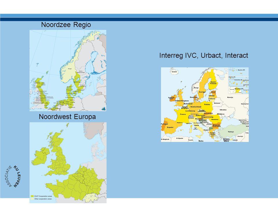 Noordzee Regio Noordwest Europa Interreg IVC, Urbact, Interact