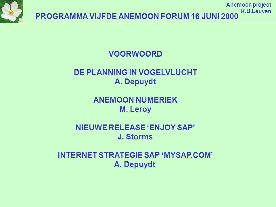 Anemoon project Vijfde Anemoon forum 16 juni 2000