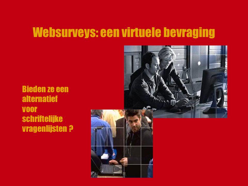 Websurveys: een virtuele bevraging Bieden ze een alternatief voor schriftelijke vragenlijsten ?