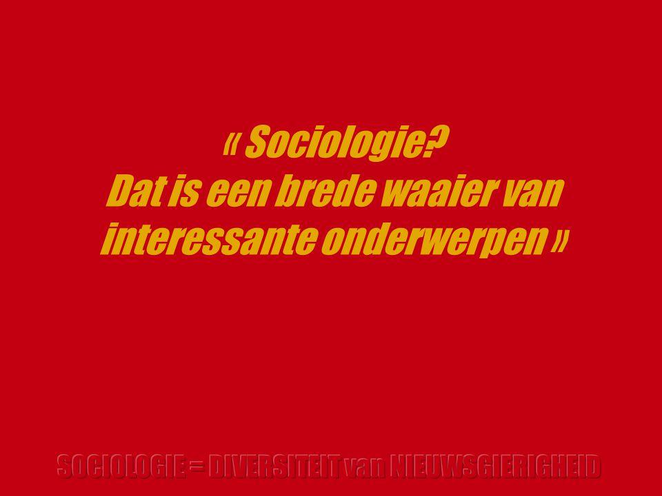 « Sociologie? Dat is een brede waaier van interessante onderwerpen »