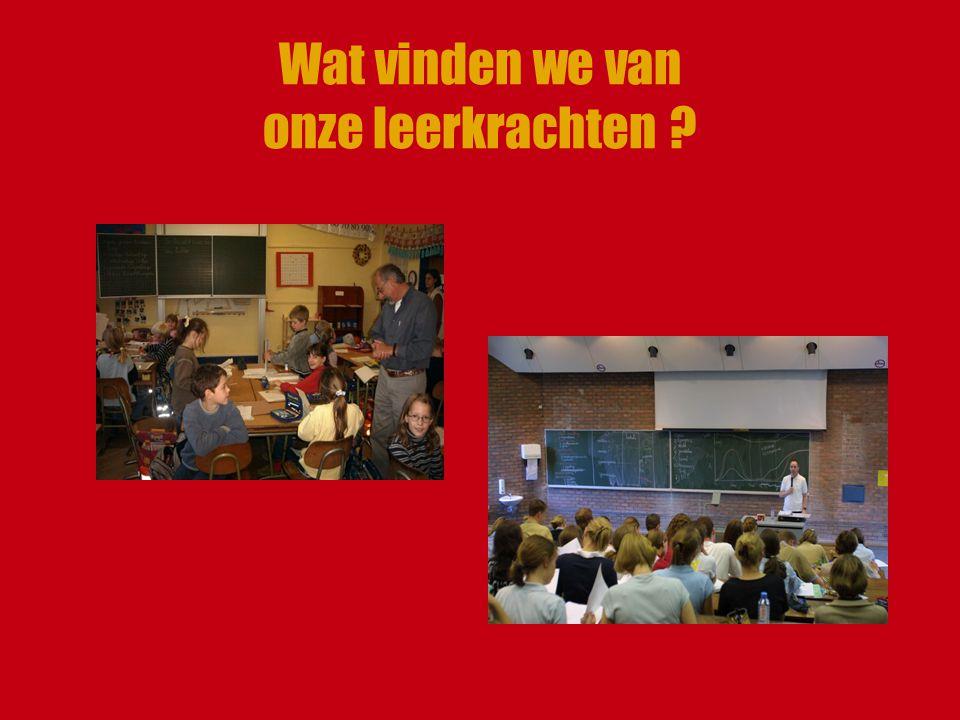Wat vinden we van onze leerkrachten ?