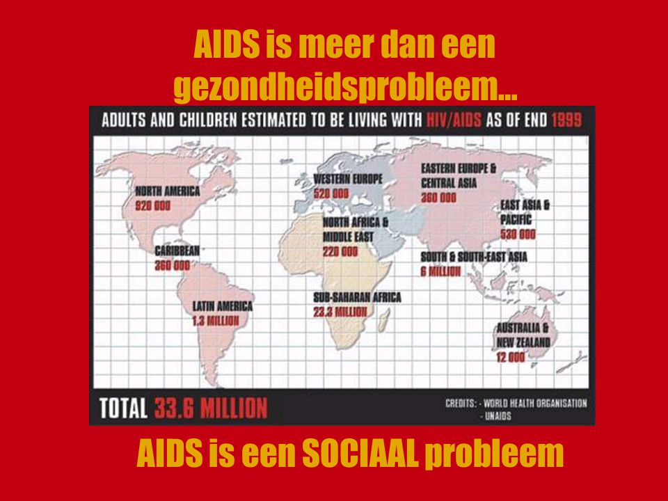 AIDS is meer dan een gezondheidsprobleem… AIDS is een SOCIAAL probleem