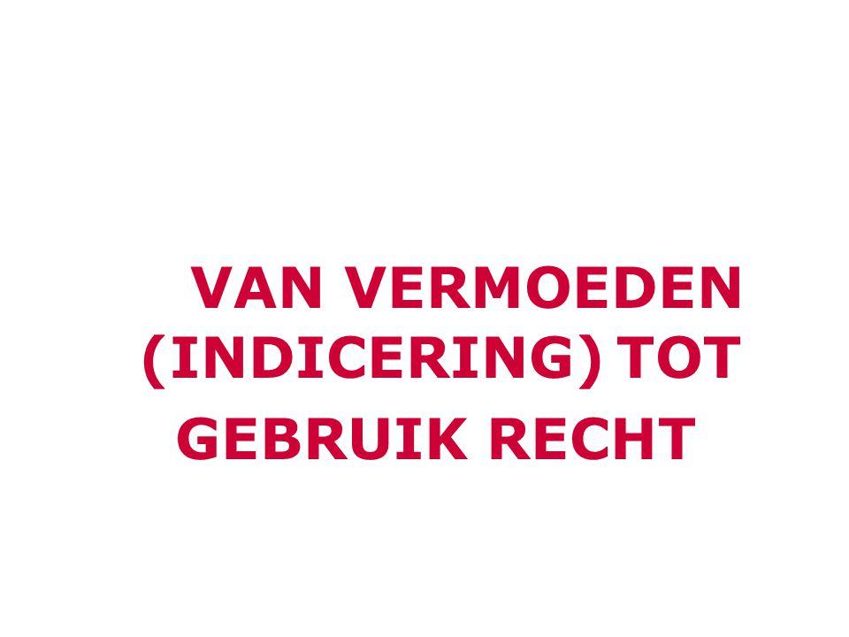 VAN VERMOEDEN (INDICERING)TOT GEBRUIK RECHT