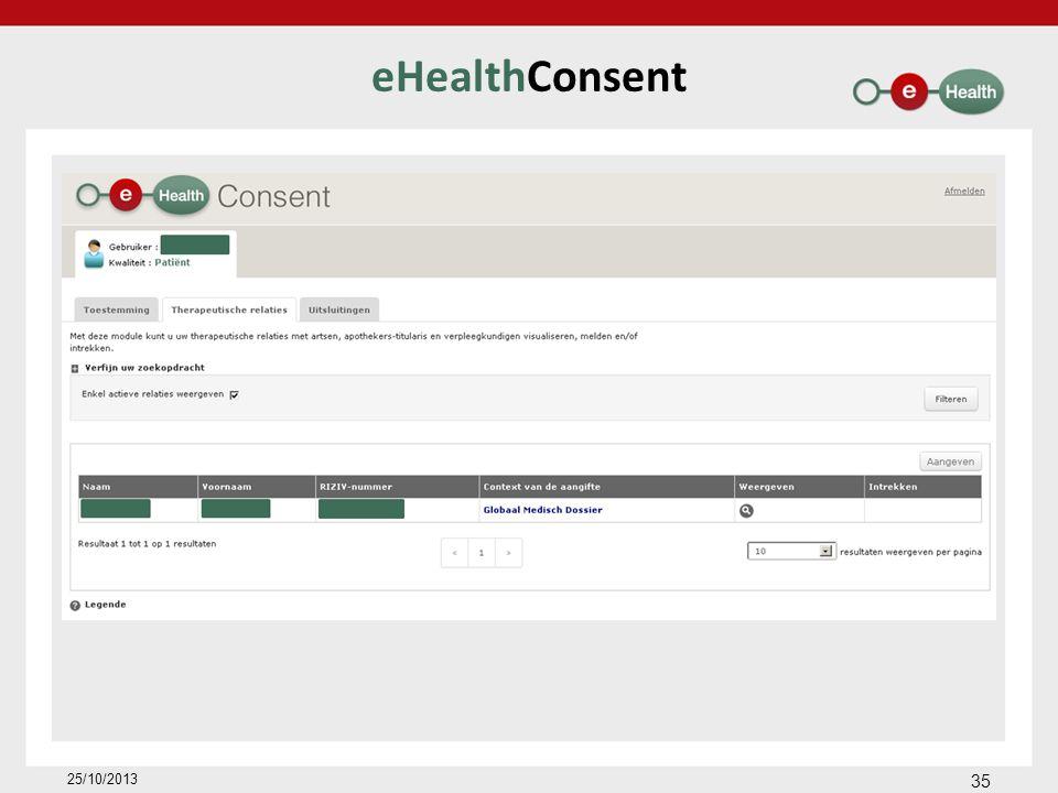eHealthConsent 35 25/10/2013