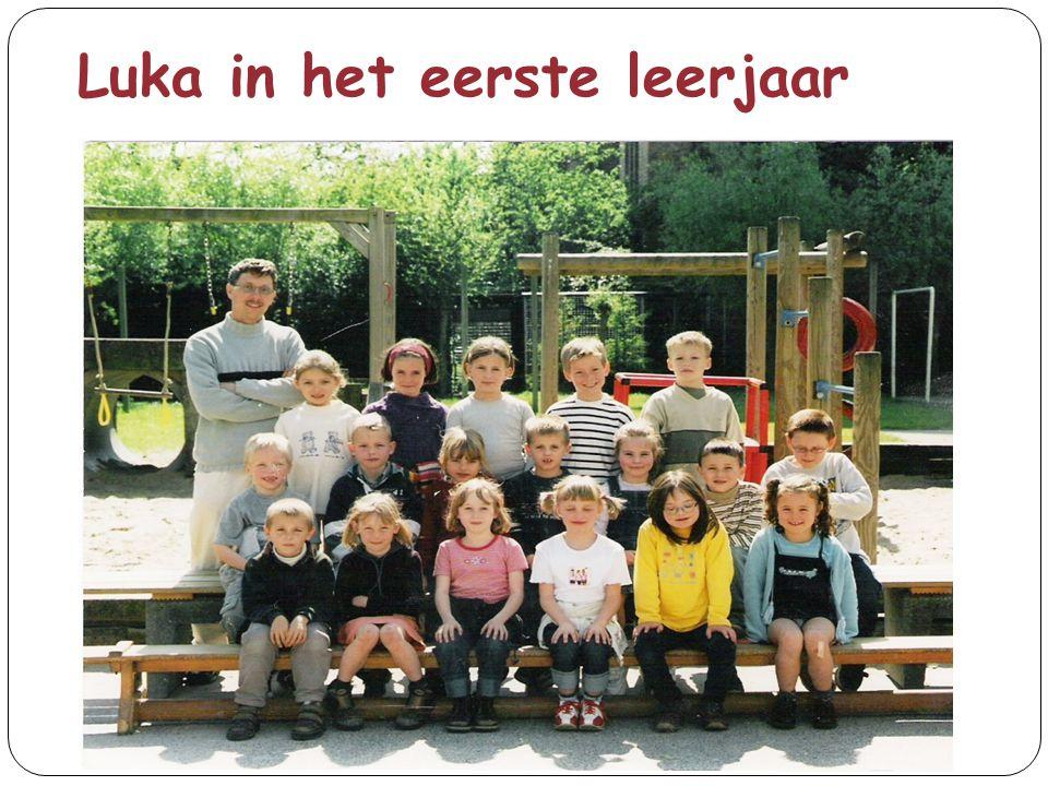 Luka in het eerste leerjaar