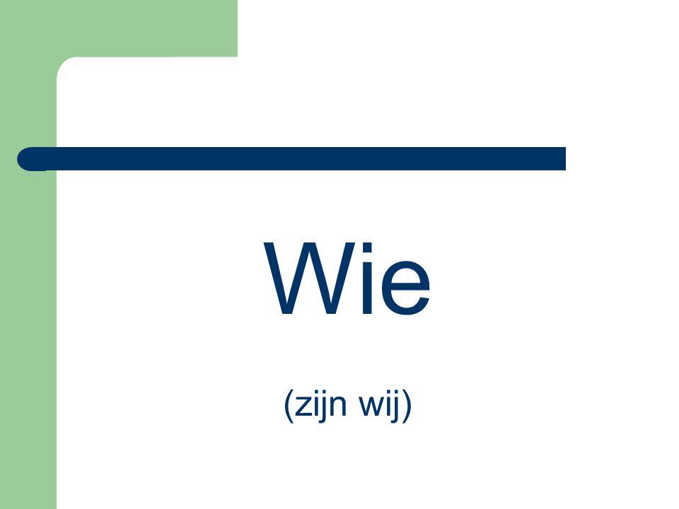Wie (zijn wij)