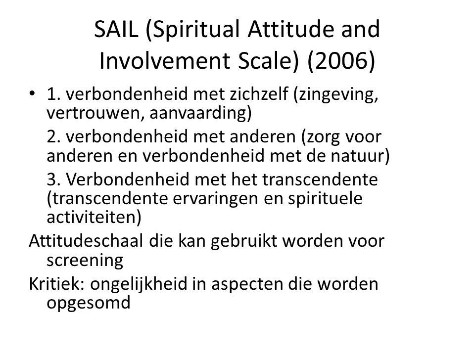 SAIL (Spiritual Attitude and Involvement Scale) (2006) 1.