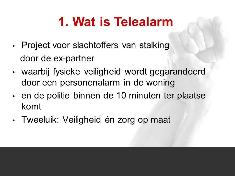1/1 Project voor slachtoffers van stalking door de ex-partner waarbij fysieke veiligheid wordt gegarandeerd door een personenalarm in de woning en de