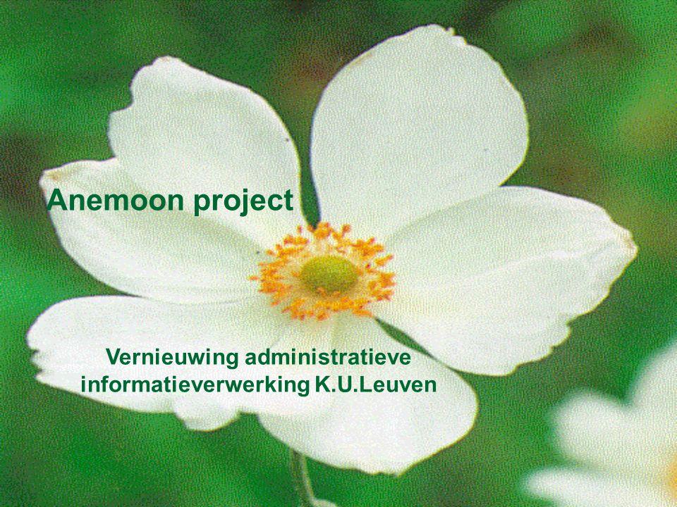 Anemoon project Vernieuwing administratieve informatieverwerking K.U.Leuven