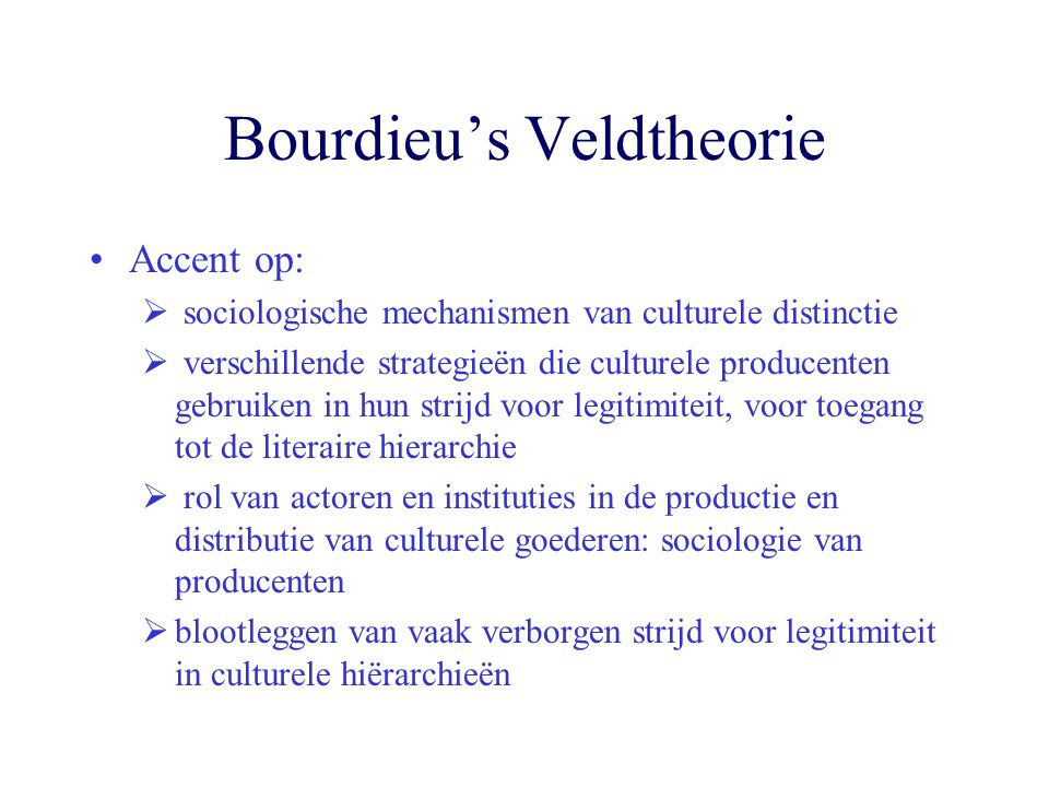 Bourdieu's Habitus.
