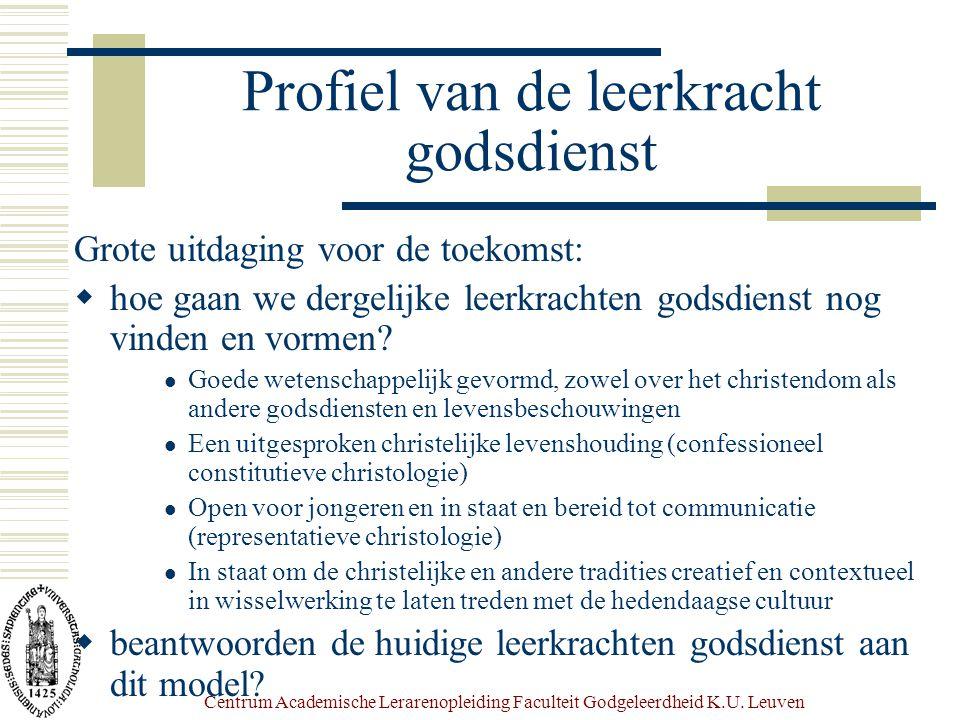 Centrum Academische Lerarenopleiding Faculteit Godgeleerdheid K.U.