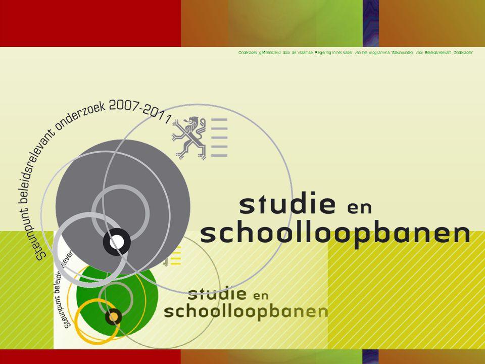 Onderzoek gefinancierd door de Vlaamse Regering in het kader van het programma 'Steunpunten voor Beleidsrelevant Onderzoek' GOK beleid N = 149 Min = 0 Max = 156 Mean = 26.70 SD = 29.19
