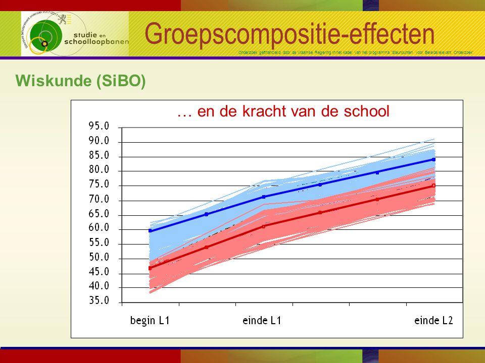Onderzoek gefinancierd door de Vlaamse Regering in het kader van het programma 'Steunpunten voor Beleidsrelevant Onderzoek' Groepscompositie-effecten