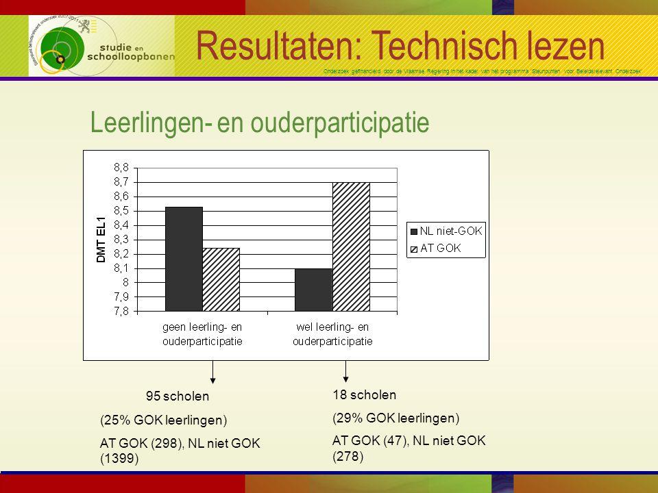 Onderzoek gefinancierd door de Vlaamse Regering in het kader van het programma 'Steunpunten voor Beleidsrelevant Onderzoek' Resultaten: Technisch leze