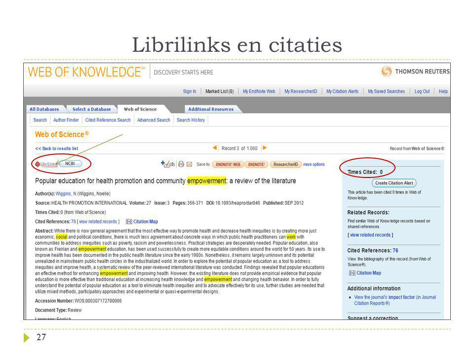 Librilinks en citaties 27