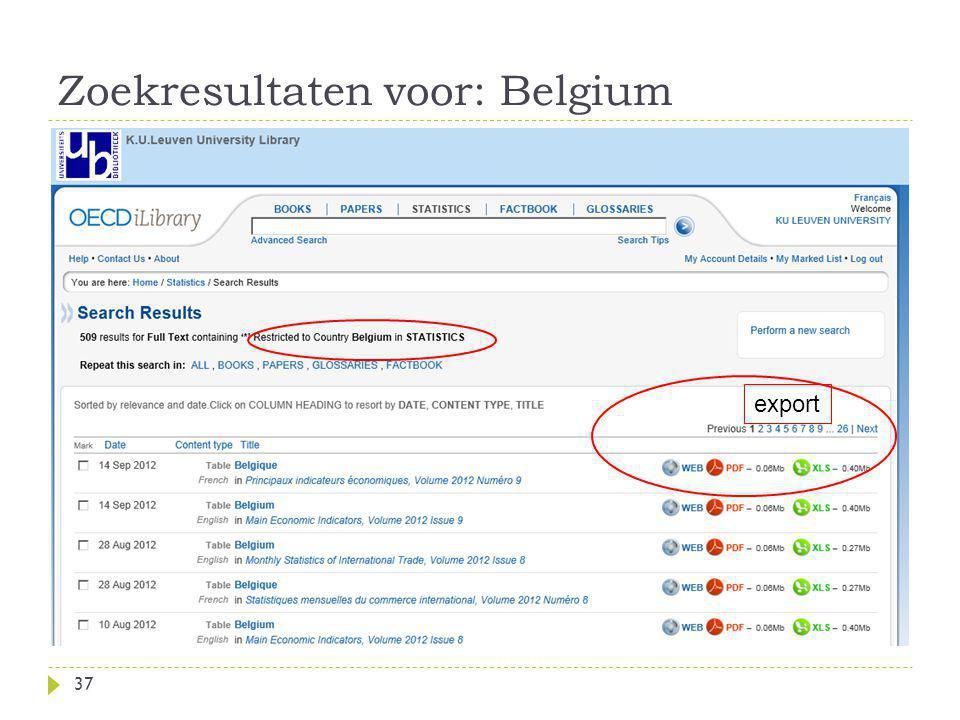 Zoekresultaten voor: Belgium 37 export