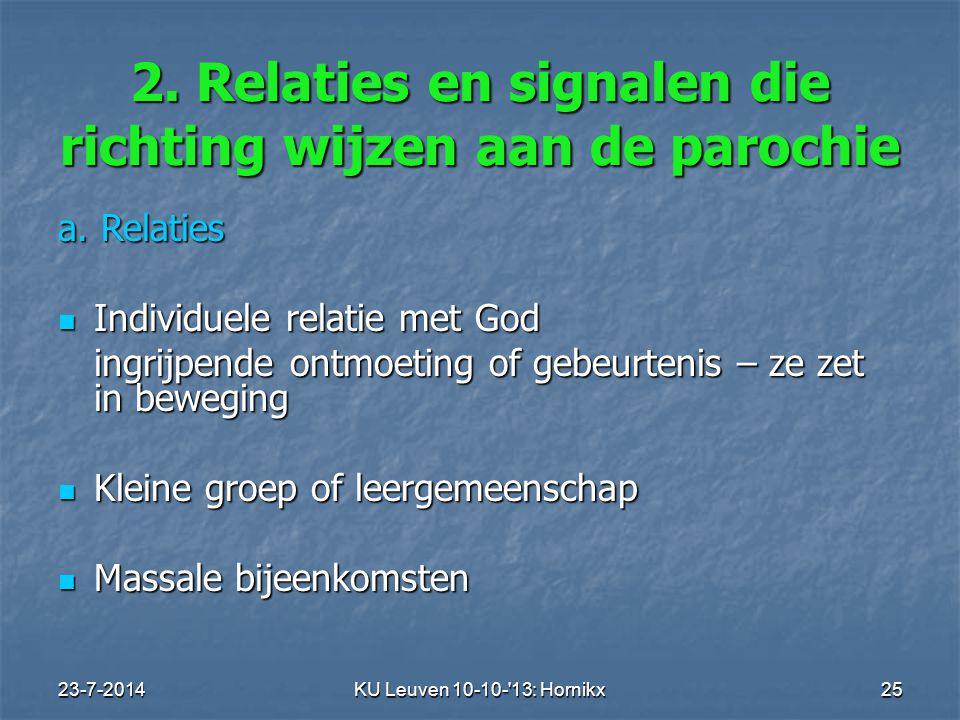 23-7-2014KU Leuven 10-10- 13: Hornikx 25 2.