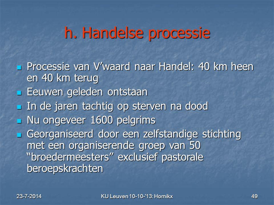 KU Leuven 10-10- 13: Hornikx 49 h.