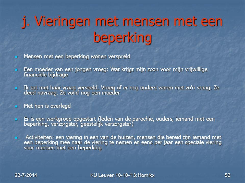 23-7-2014KU Leuven 10-10- 13: Hornikx 52 j.