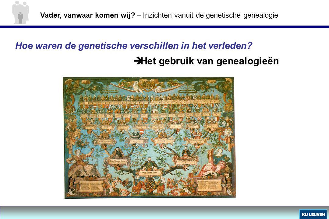 Hoe waren de genetische verschillen in het verleden?  Het gebruik van genealogieën Vader, vanwaar komen wij? – Inzichten vanuit de genetische genealo