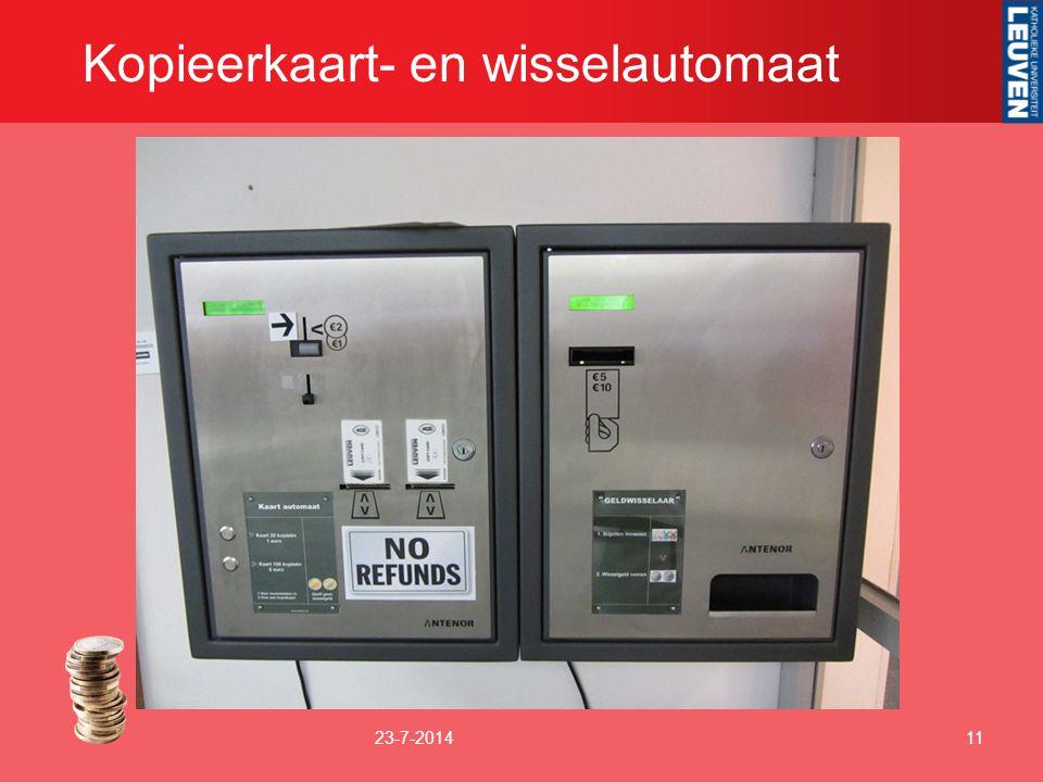 Kopieerkaart- en wisselautomaat 23-7-201411