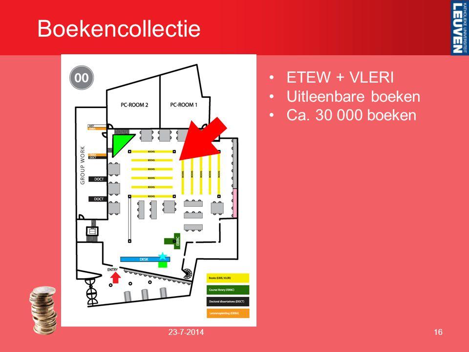 Boekencollectie 23-7-201416 ETEW + VLERI Uitleenbare boeken Ca. 30 000 boeken
