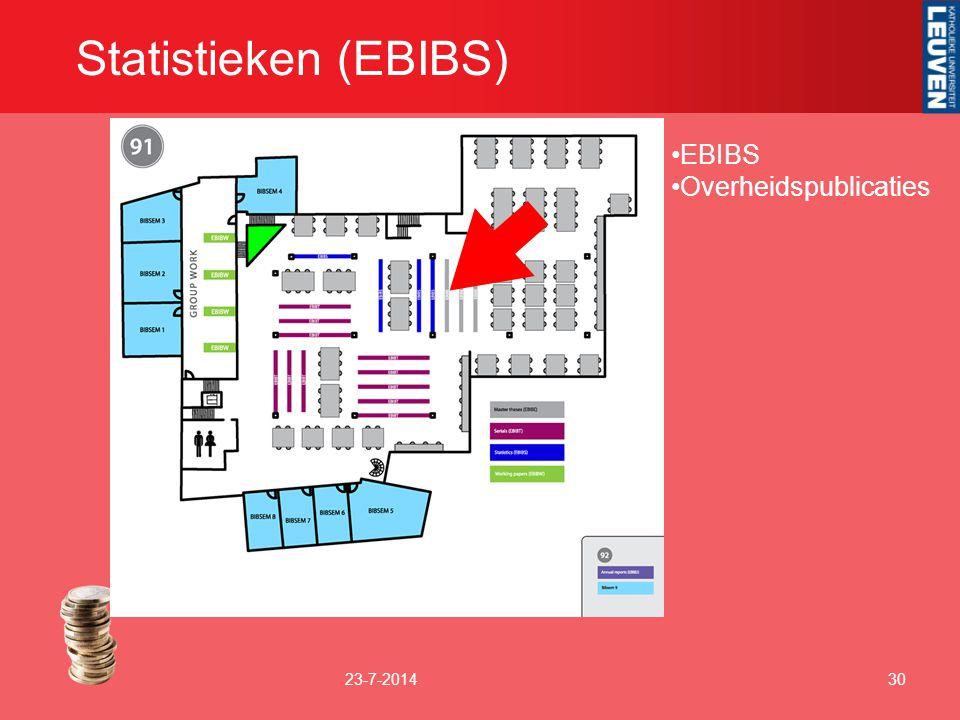 Statistieken (EBIBS) 23-7-201430 EBIBS Overheidspublicaties