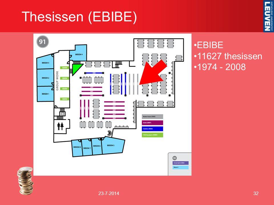 Thesissen (EBIBE) 23-7-201432 EBIBE 11627 thesissen 1974 - 2008