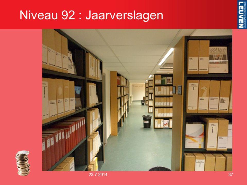 Niveau 92 : Jaarverslagen 23-7-201437