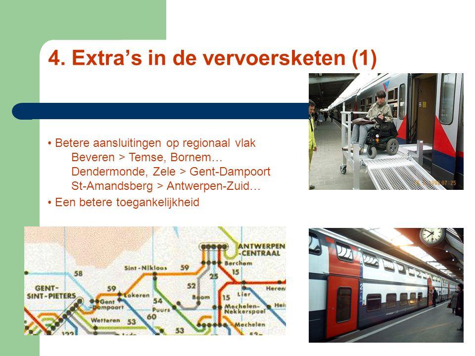 3. Vervoerscapaciteit Om het half uur Samen met IC's : 4 x / uur In gelijke tred met IC en cargo Nieuwe dubbeldekkers 500 reizigers per trein Comfort